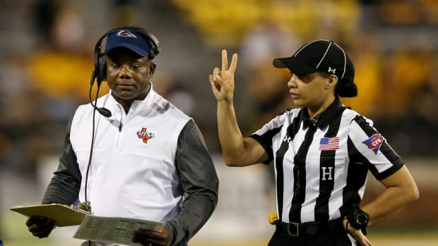 Three years ago Maia Chaka was a head linesman for a UTSA Roadrunners vs. Southern Miss Golden Eagles game. She will now be an NFL official.