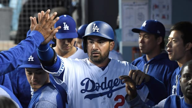 Adrian Gonzalez is doing what he can to manage shelter in place amid this coronavirus pandemic.