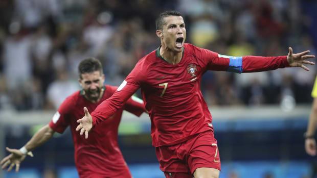 Cristiano Ronaldo Scores Goal.
