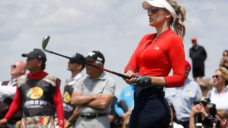 Paige Spiranac Plays Closest-to-the-Pin Challenge Against Josh Creel