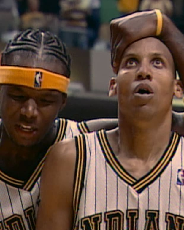 Jermaine O'Neal and Reggie Miller star in Malice in the Palace documentary.