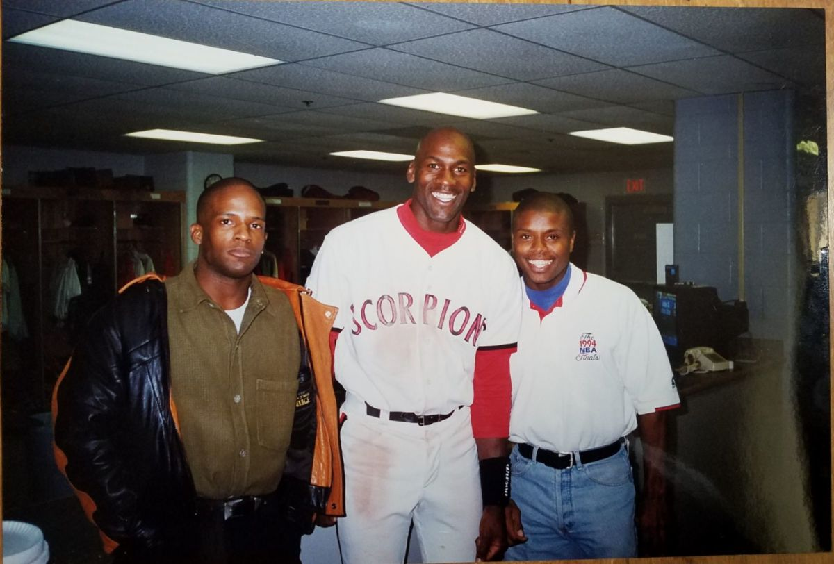 Todd with NBA legend Michael Jordan during the athlete's time with the Scottsdale Scorpions.