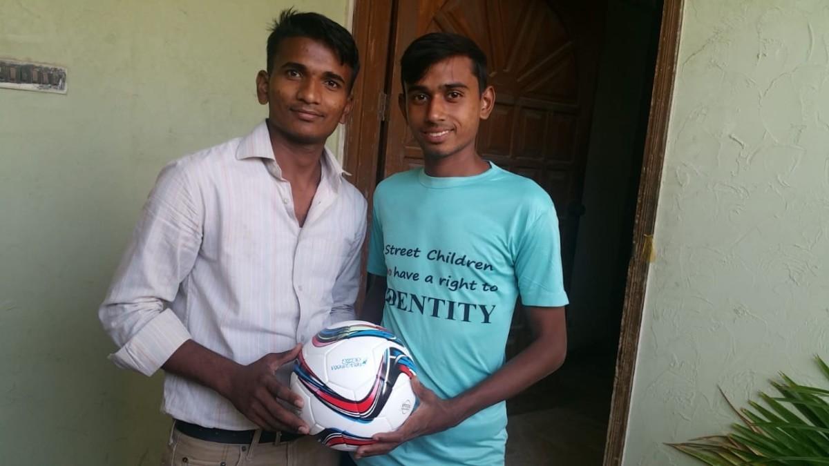 Salman (white shirt, left) and Owais (blue shirt) – on day 1 of documentary shoot