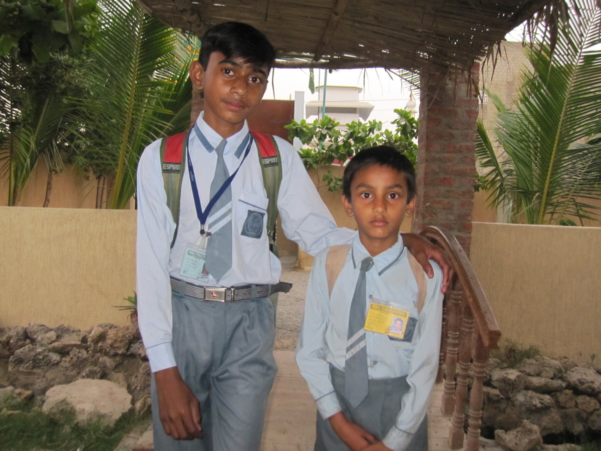 Salman at the shelter, going to school